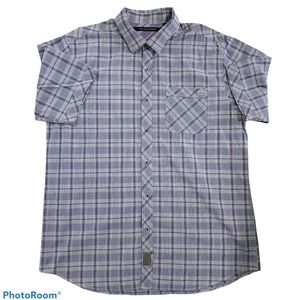 Sean John Blue Plaid Original Fit Button Up Shirt